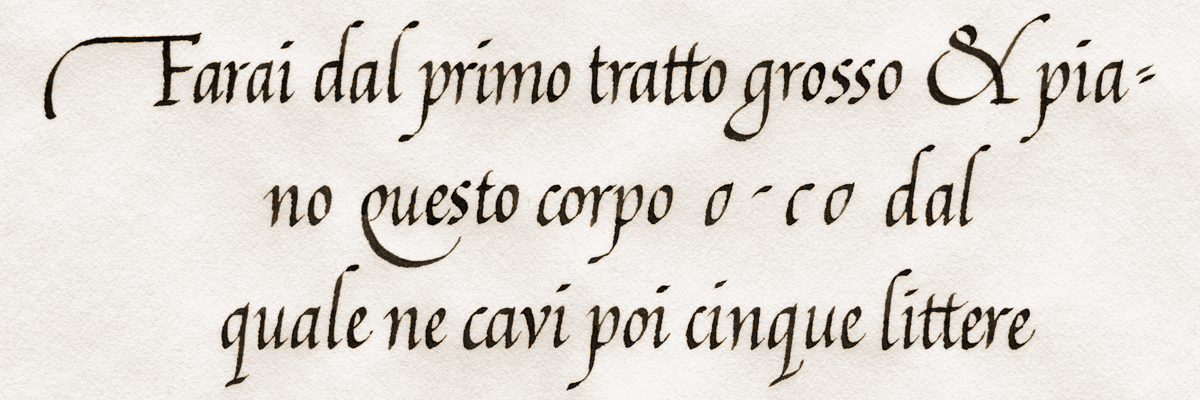 Type@Cooper - Calligraphy, The Italic Hand